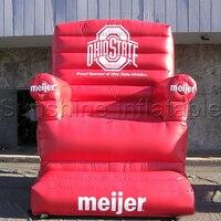 Tùy chỉnh đỏ inflatable mô hình ghế bơm hơi khổng lồ sofa cho quảng cáo