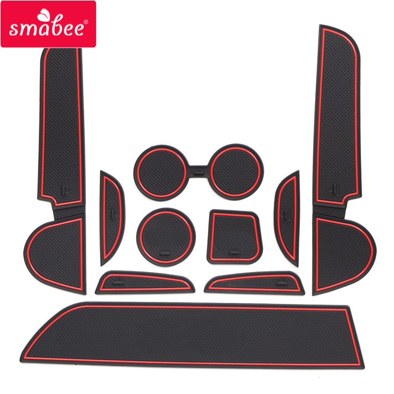 Smabee Porte fente pad Pour mitsubishi Mirage 2012-2018 Accessoires, 3D En Caoutchouc Tapis De Voiture rouge/bleu/blanc 10 PCS