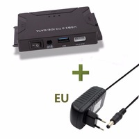 USB 3.0 to SATA IDE Data Adapter Converter 3 in 1 for PC Laptop 2.5 3.5 HDD Hard Disk Driver With EU US UK Plug Power Adapter
