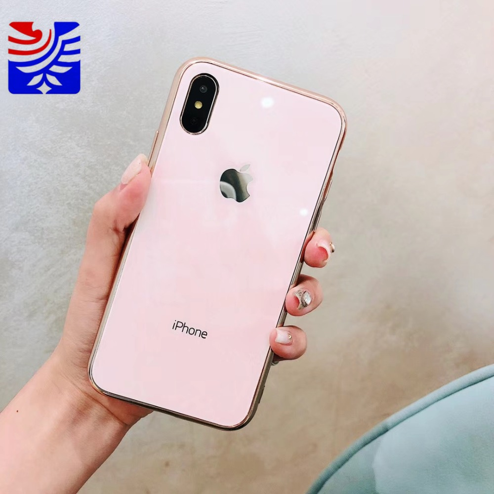 PEIPENG Luxury made of electroplated glass Anti-fall Phone Cases For iphone 6 6S 7 8 Plus X Xs Max Christmas gift Girl Simple and stylish04