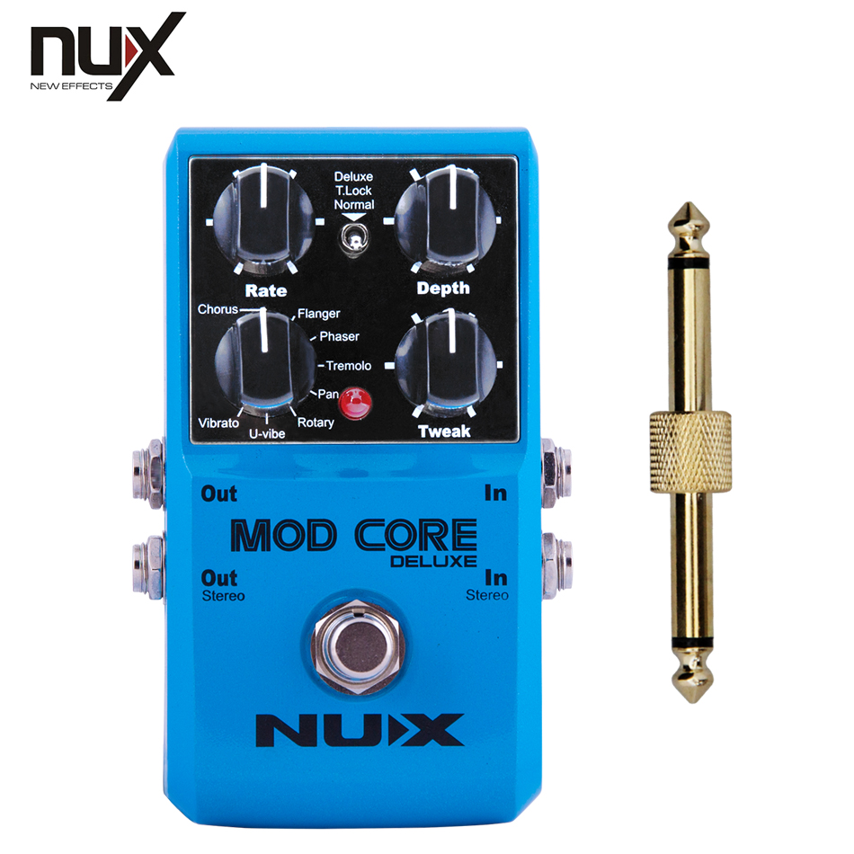NUX / MOD CORE Effect Pedal Mod Core Chorus, flanger, phaser, tremolo, rotary+1 pc pedal connector