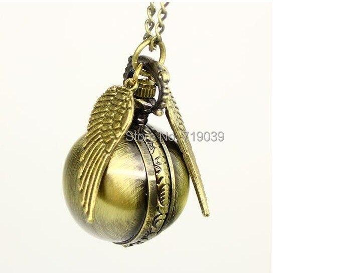 ZRM модные ювелирные изделия Винтаж Шарм Поттер Золотой снитч карманные часы для женщин