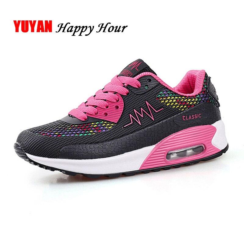 Maille D'air Coussin Sneakers bleu Appartements Mode Respirant Casual Femmes rose Noir Espadrilles A757 Pour Chaussures fdFXqd