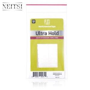 Image 3 - Neitsi 120 Tabs кружева спереди/DUO PRO/Ультра удерживающие предварительно вырезаемые двухсторонние ленты США ходунки ленты для наращивания волос