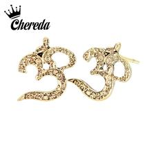 цена на Chereda Slavic Viking Men Stud Earring Delicate Tiny Earrings for Women Antique Silver Office Jewelry