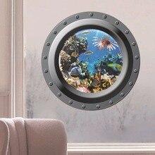 Creative Home Decor 3D Wall Stickers - 16 Kinds of Cartoon Animal Clownfish Pattern Submarine Window For Refrigerator Door Tile