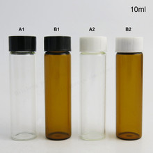 10ml screw-neck  amber glass vials with bakelite cap, serum bottle, 1/3 oz brown container, essence package