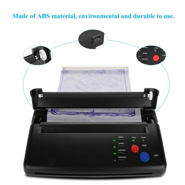 Lighter Tattoo Transfer Machine Printer Drawing Thermal Stencil Maker Copier for Tattoo Transfer Paper Supply permanet makeup
