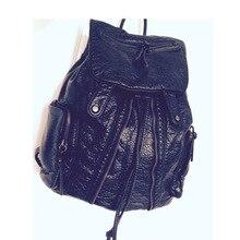 Новинка 2017 года дизайнер модный бренд кожа женщины рюкзак Mochilas Рюкзаки Школьные Сумки sac DOS Back Pack Рюкзак для ноутбука