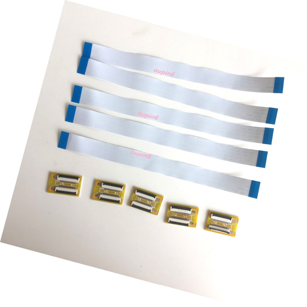 5 pcs FFC FPC 40-pin 0.5mm Pitch Ribbon Flat Cable Wire ZIF HDD 20 cm Long New