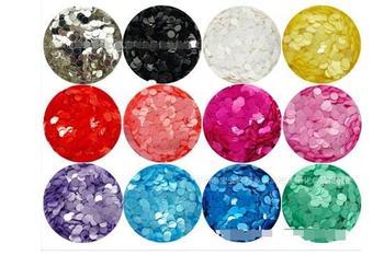 5g każda 12 kolorów 2mm matowy okrągły Dot błyszczy na lakier do paznokci dzięki czemu akcesoria do zdobienia paznokci tanie i dobre opinie Brokat Ciało China (Mainland) PET FILM