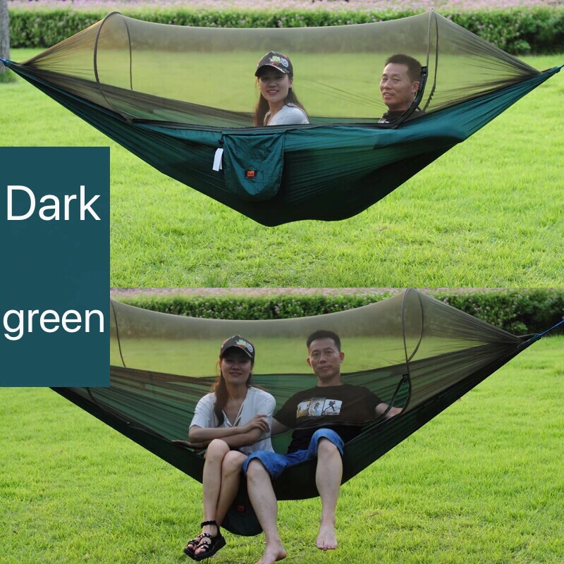 Portable Outdoor Leisure Swing Mosquito net single double people parachute cloth ultralight net hammock indoor outdoor hammock nets widened double parachute cloth ultra light mosquito net hammock camping indoor swing
