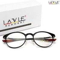 2018 New Design Handmade Carbon Fiber Male Frame Round Eye Glasses Light Flexible Female Eyeglasses Frame for Myopia Glass 9001