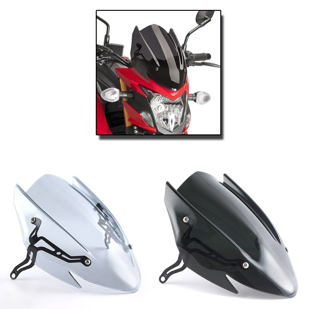 Motorcycle Touring Racing GSXS 750 Windscreen Windshield Screen with Mounting Bracket For 2017 2018 Suzuki GSX