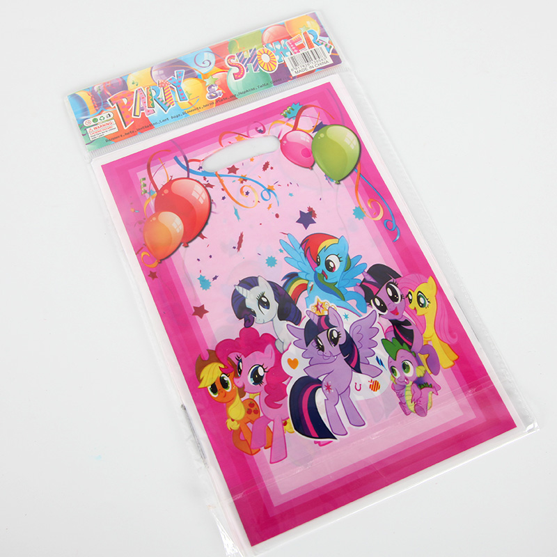 10pcs/set My Little Pony Gift Loot Bag Candy Bag Kids Girls Happy Birthday Party Supplies Baby Shower Party Decoration