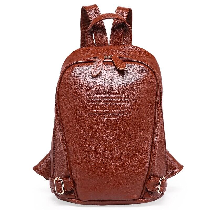 Women Backpack Genuine Leather Female Backpacks For Teenage Girls Students Schoolbag Women Travel Bag Mochila Bolsa High Quality