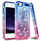 Gradient Quicksand Phone Cases for iPod touch 5 6 Glitter Liquid Bling Diamond Protective Cover for iPod touch Girls Cute Cases
