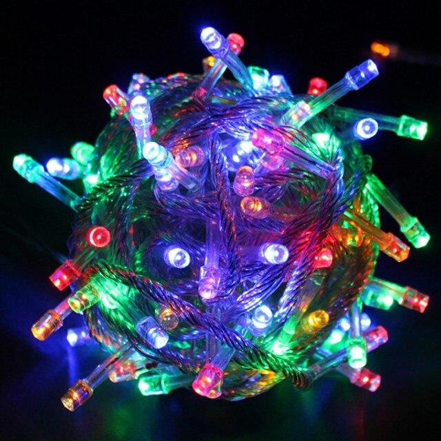 Waterproof Led Bulb 10M 220V Multi Color Decoration String Fairy Light Christmas Xmas Party Light Eu Plug Wholesale