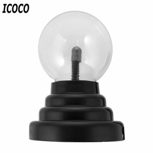 ICOCO 3 Inch USB Plasma Ball Electrostatic Sphere Light Magic Crystal Lamp Ball Touch Sensitive Transparent Desktop Lights