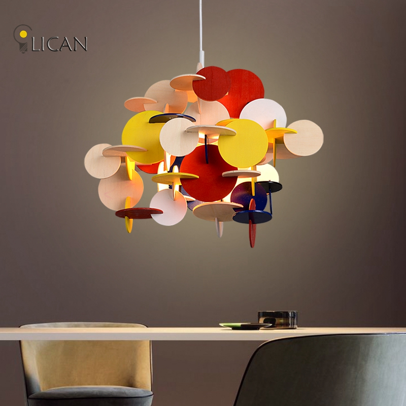 LICAN Nordic Wooden Children 's Chairs Colored Wooden Pendant chandeliers Denmark Designer pendant home lighting Fixtures lights riggs r miss peregrine s home for peculiar children