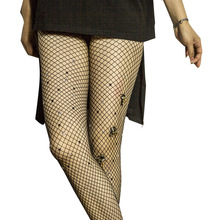цена на New Sexy Womens Lady Girls Diamond Design Black Sexy Fishnet Pattern Jacquard Stockings Rhinestone Pantyhose Tights