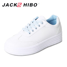 JACKSHIBO 2018 NEW Women' Platform Shoes Cute Pattern Design Heel Sneakers for Woman Thick Soled Ladies Shoes Zapatos Mujer