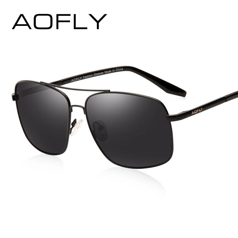 AOFLY férfi polarizált napszemüveg divat márka tervező HD Polaroid napszemüveg férfiak bevonat lencse kettős híd szemüveg AF6107