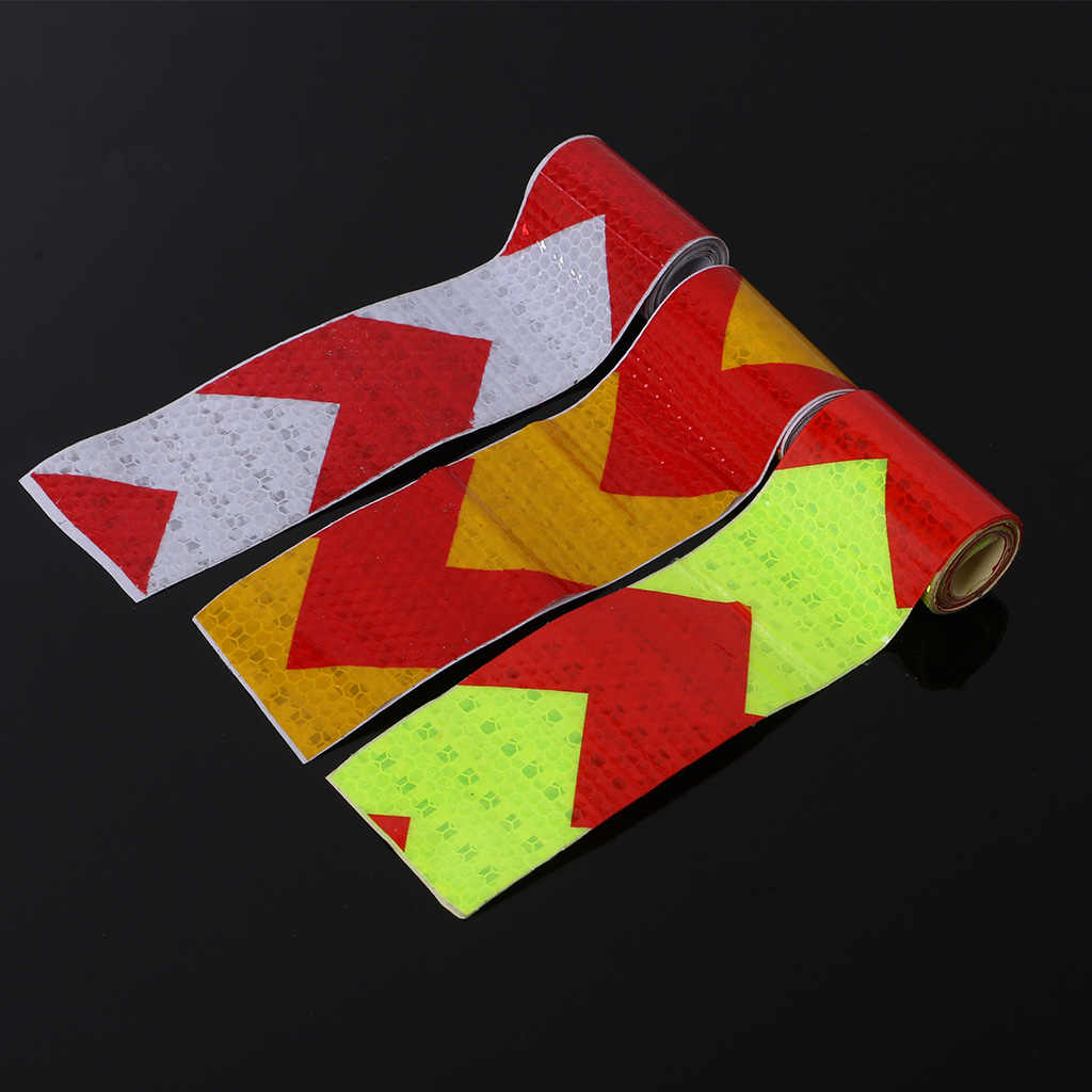 5cmx100cm Arrow Reflective Tape Safety Caution Warning Reflective Adhesive Tape Sticker For Truck Motorcycle Bicycle Car Styling