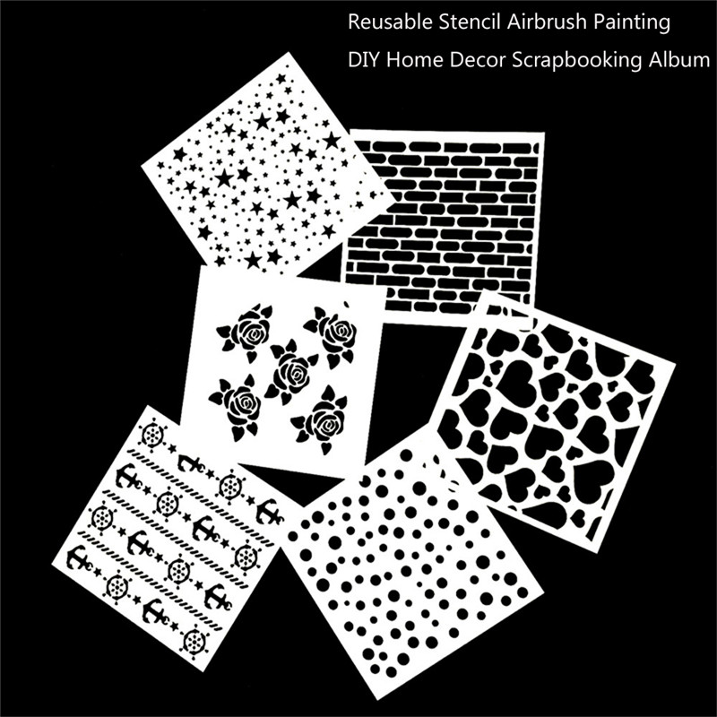 Free Shipping Stencil Painting Template Stamps DIY Scrapbooking Photo Album Cards Decorative Embossing Cake Fondant Cupcake Tool 10 in 1 fondant cake decorating flower modelling tool set multicolored
