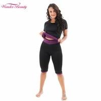Wonder Beauty Hot Sweat Slimming Neoprene Sauna Shirt Vest Body Shapers For Weight Loss Crop Top