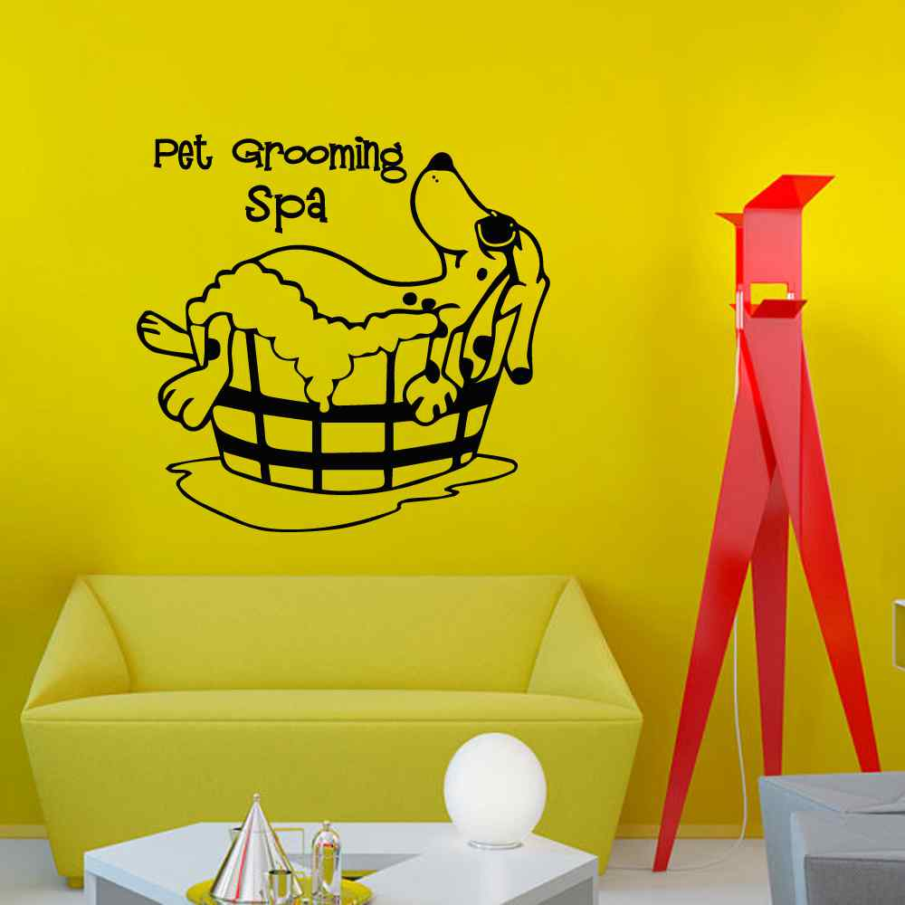 Pet Grooming Spa Wall Decal Quote Grooming Salon Decals Vinyl ...