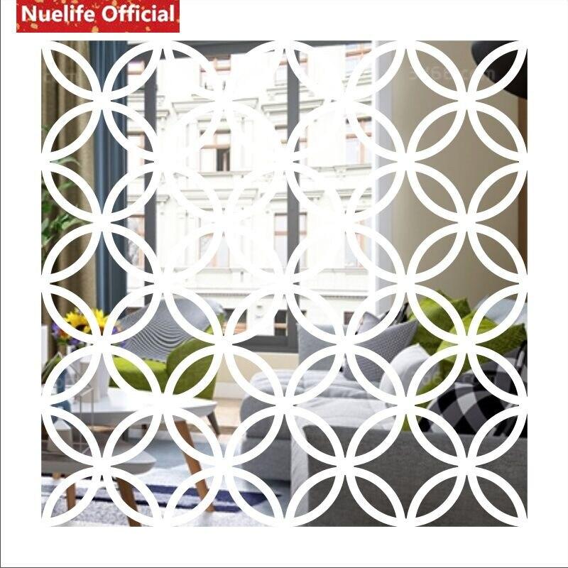 Círculo estilo chino cobre patrón de dinero espejo adhesivo Sala dormitorio fondo de sofá, televisión u oficina pegatina espejo decorativo - 5