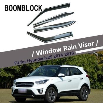 High Quality 4pcs Smoke Window Rain Visor For Hyundai IX25/Creta 2018 2017 2016 2015 2014 Vent Sun Deflectors Guard Accessories