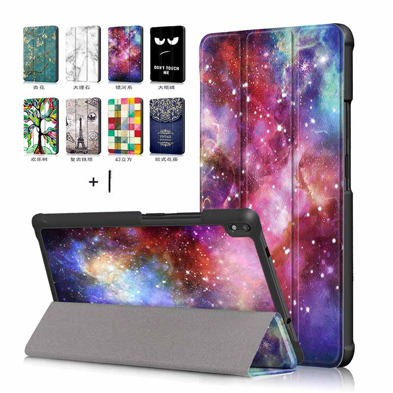 For Lenovo Tab 4 8 Plus Tablet Case for Lenovo Tab 4 8 Plus TB-8704V Smart Wake Up Cover Flip Stand Leather Shell+Stylus new print luxury magnetic folio stand fashion prints flower leather case cover for lenovo tab 3 8 plus tab3 p8 tb 8703f tb 8703n