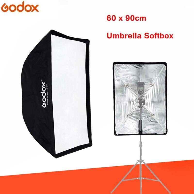 Godox softbox Flash portátil Speedlite accesorios de fotografía 60*90 cm paraguas Softbox Reflector para photo Studio caja de luz
