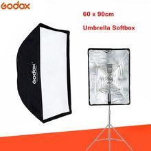 Godox softbox 60x90cm flaş Speedlite broly şemsiye lamba difüzör yumuşak kutu reflektör fotoğraf stüdyosu fotoğraf aksesuarları
