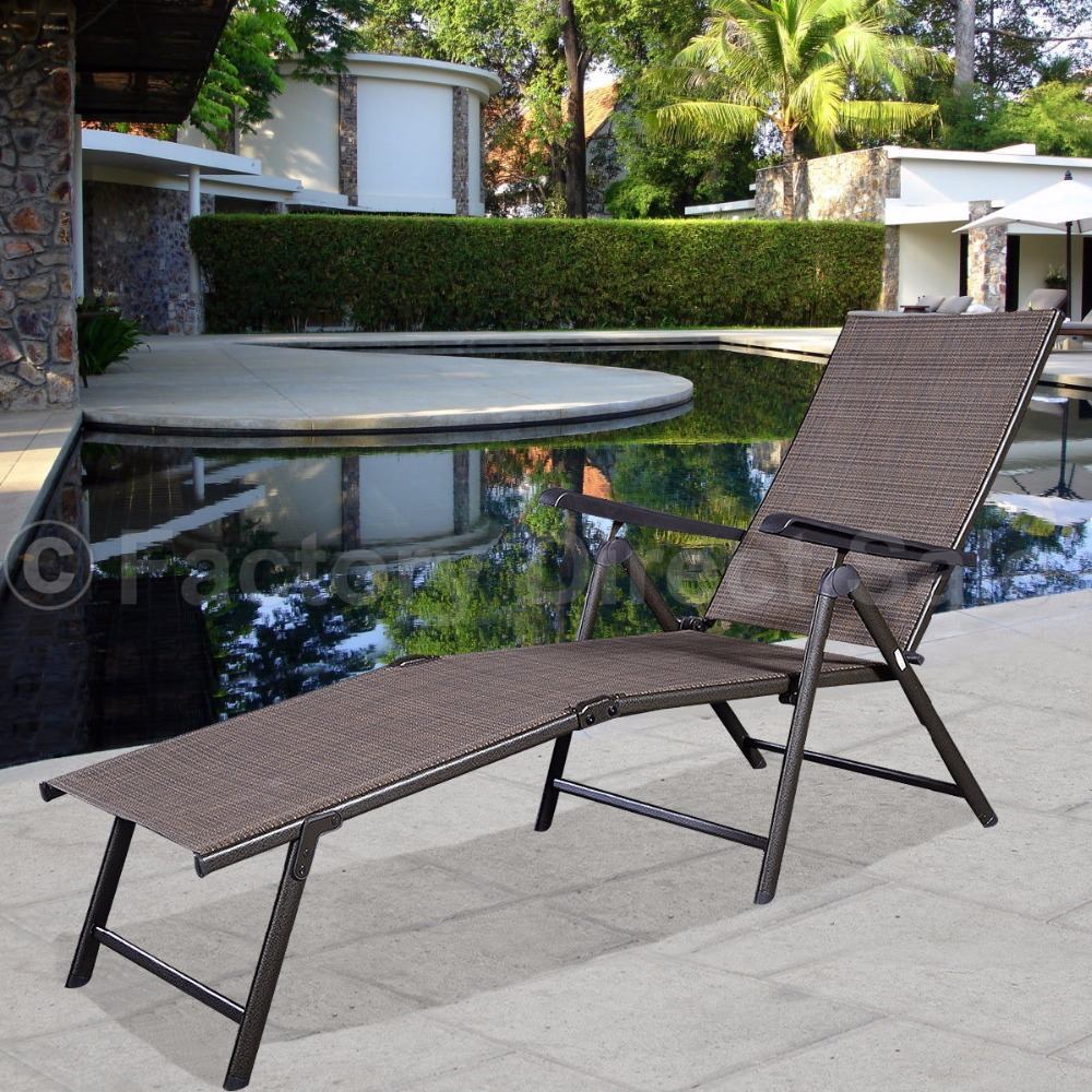Pool Chaise Lounge Chair Recliner Outdoor Patio Furniture Adjustable HW49889 ...