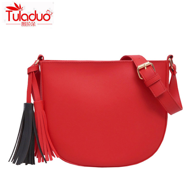 Women Crossbody Bags Famous Brand Designer Saddle Women Bags High Quality Pu Leather Messenger Bags Fashion Tassel Ladies Bags