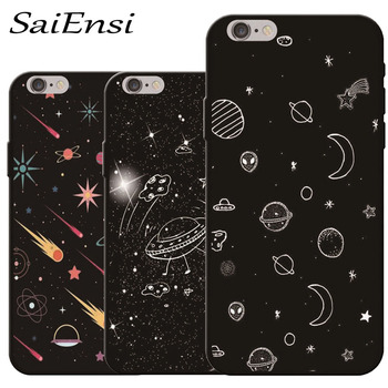 for iphone 7 7plus case Starry sky universe Cartoon pattern Soft shell mobile phone Back cover for iphone 5S 6 6S 8 plus X cases iphone