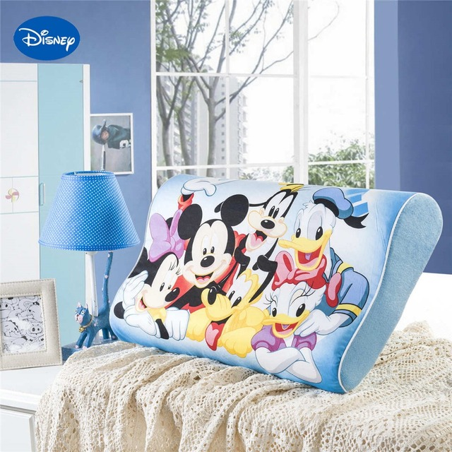 Blue Mickey Mouse Clubhouse Printed Memory Pillows 50x30cm Bedroom  Decoration Boyu0027s Home Bedding Slow Rebound Wave