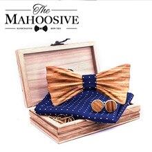 Мужской деревянный галстук бабочка, деревянный 3d галстук бабочка ручной работы с принтом зебры, подарок на день рождения
