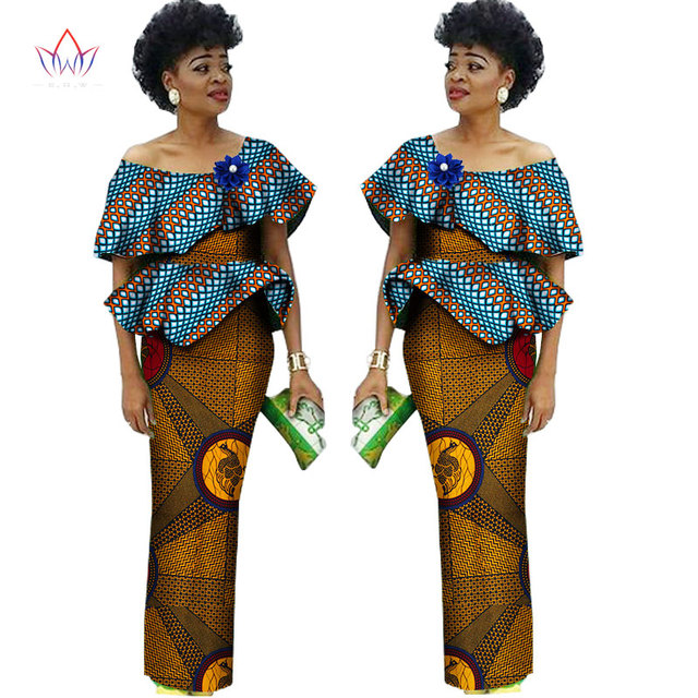 1a5b33ad9f7 Summer African Suits For Women In African Clothing Colorful Africa Print  Short Sleeve Skirt Sets Traditional