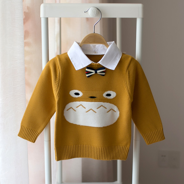 Hot 2018 Spring And Autumn Childrens Long Sleeved Sweater Kids Boy