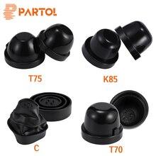 Partol Soft Rubber Car Headlight Housing Seal Cap Waterproof Dustproof Cap Cover Used For LED Headlight Bulb 65mm 70mm 75mm 85mm