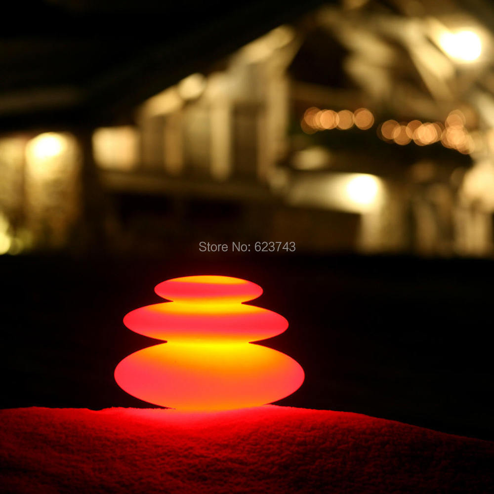 16 Colors Changeable Waterproof LED Zen Modern Indoor Outdoor Lighting  Rechargeable,Glowing LED Tower Decor Lamp Pebble Light In LED Night Lights  From ...