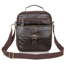 Vintage Genuine Leather Men Bag Business Men Messenger Bags Men's Shoulder Bags Cowhide Men Cross Body Bag Handbag #MD-J7141Q