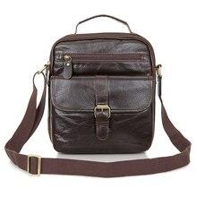 Vintage Genuine Leather Men Bag Business Men Messenger Bags Men's Shoulder Bags Cowhide Men Cross Body Bag Handbag #MD-J7141Q