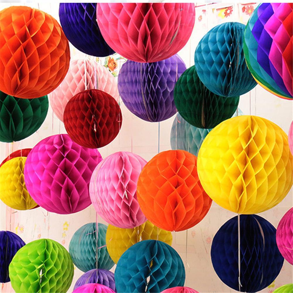 1 unids / lote 15 CM navidad Honeycomb Balls decoraciones de la - Para fiestas y celebraciones - foto 1