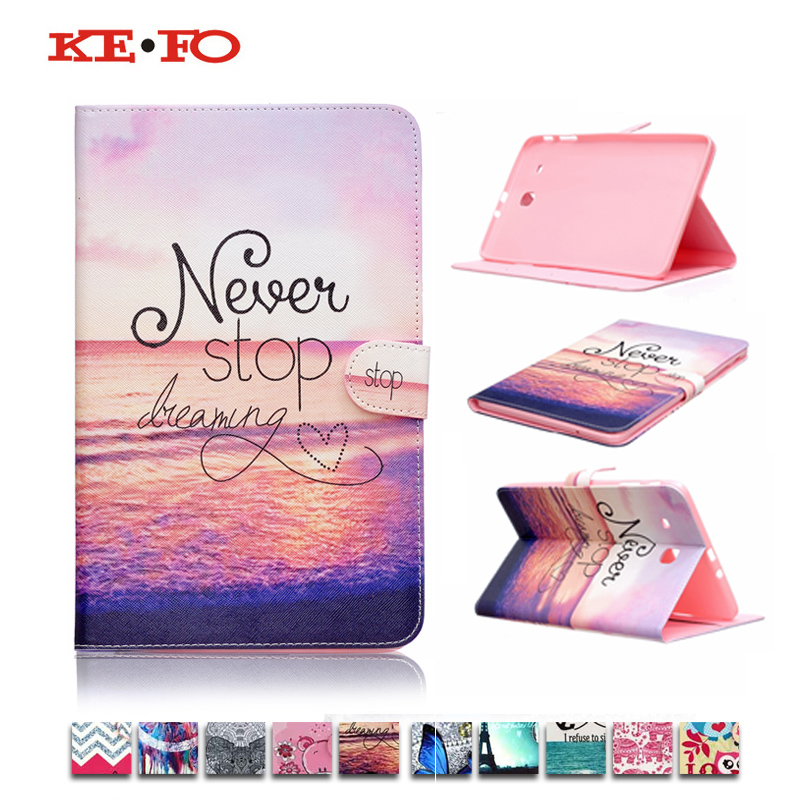 Fashion Blue butteryfly OWL painting PU Leather Stand Case Cover For Samsung Galaxy Tab E 9.6 T560 SM-T560 T561 SM-t561 tablet