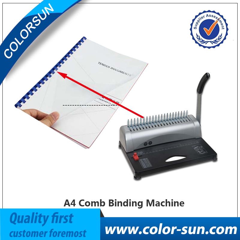 A4 size adjustable comb binding machine, book binding machine with 50pcs Aprons free a4 size comb type binding machine mars 230 manual rubber ring clamp dual use machine 21 hole file punch binding machine 1pc